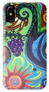 Flower Goyle With Grapes IPhone Case