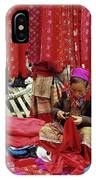 Flower Hmong Fabric Stall IPhone Case