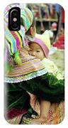 Flower Hmong Mother And Baby 02 IPhone Case