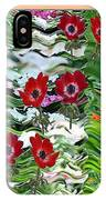 Flower Mania Anemone Fantasy Wave Design Created Of Garden Colors Unique Elegant Decorations IPhone Case
