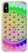 Flower Of Live - Rainbow Lotus 2 IPhone Case