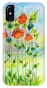Flower Patch With Butterfly IPhone Case