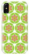 Flower Pattern In Circle IPhone Case