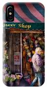 Flower Shop - Ny - Chelsea - Hudson Flower Shop  IPhone Case