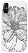 Flower Sketch IPhone Case