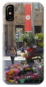Flower Stand In Milan IPhone Case