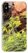 Flower Wood And Rock IPhone Case