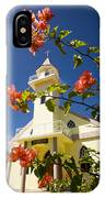 Flowers And Church On Takapoto Atoll IPhone Case