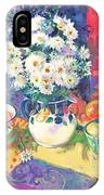 Flowers And Fruit In A Green Bowl IPhone Case