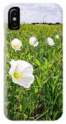 Flowers And Landscapes Along Texas Highway Roadside In Spring IPhone Case