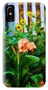 Flowers At The Fountain Of The Plaza Hotel IPhone Case