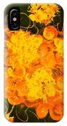 Flowers, Buttons And Ribbons -shades Of Orange/yellow  IPhone Case