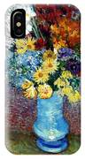 Flowers In A Blue Vase  IPhone X Case