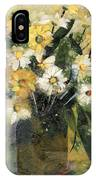Flowers In White And Yellow IPhone Case