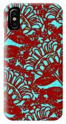 Flowers Indigo Red And Blue IPhone Case