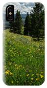 Flowers On The Hillside IPhone Case