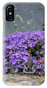 Flowers On The Stone Wall IPhone Case