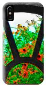 Flowers Through Basement Window At Monticello IPhone Case