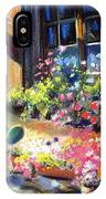 Flowery Window Of France IPhone Case