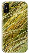 Flowing Green Grass  Abstract IPhone Case