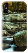 Flowing River On Greenbrier Cove Road Smoky Mountains National P IPhone Case