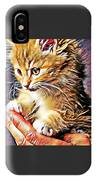 Fluffy Orange Kitten IPhone Case