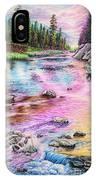 Fly Fishing In River At Sunrise IPhone Case