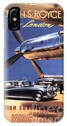 Fly The Rolls Royce Way To London IPhone Case