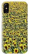 Flying Over Sunflower Fields IPhone Case