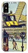 Flying Taxicabs, 1900s French Postcard IPhone Case