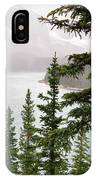 Fog Going Down At Lake Moraine IPhone Case