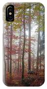 Fog In Autumn Forest IPhone X Case