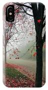 Fog On A November Morning IPhone Case