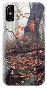 Foggy Fall Woodland Morning IPhone Case