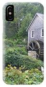 Foggy Stony Brook Grist Mill Cape Cod IPhone Case