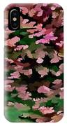 Foliage Abstract In Pink, Peach And Green IPhone Case