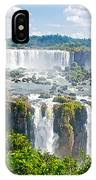Foliage In And Around Waterfalls In Iguazu Falls National Park-brazil  IPhone Case