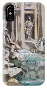 Fontana Di Trevi Rome IPhone Case