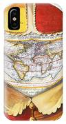 Fools Cap World Map, C1590 IPhone Case