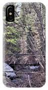 Footbridge In The Spring IPhone X Case
