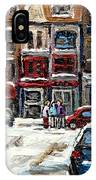 For Sale Original Paintings Montreal Petits Formats A Vendre Downtown Montreal Rue Stanley Cspandau  IPhone Case