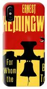 For Whom The Bell Tolls Book Cover Poster Art 1 IPhone Case