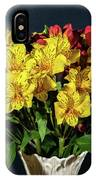 Foral Bouquet Of Red And Yellow Astomelia IPhone Case