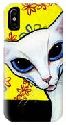Foreign White Cat IPhone Case