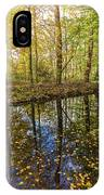 Forest Leaf Reflection IPhone Case