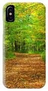 Forest Road In The Fall IPhone Case