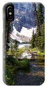 Forest View To Mountain Lake IPhone Case
