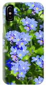 Forget Me Not Macro IPhone Case