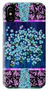 Forget Me Nots Fabric By Clothworks IPhone Case