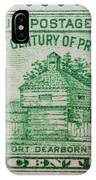 Fort Dearborn Postage Stamp IPhone Case